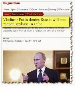 Vladimir Putin niega base de espionaje en Cuba