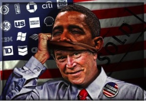Obama-Mask-On-Bush-war-crime