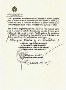 carta Maduro a los 5 Heroes pag 2
