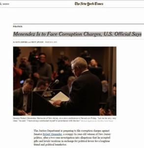NYT Bob Menendez