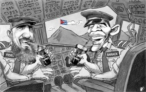 fidel castro obama avion