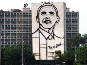 cartolina cuba-obama