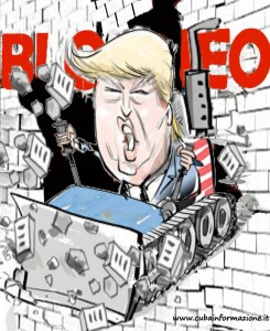bloqueo trump bulldozer